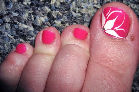 Flower Nail Art On Toes 4k Pictures 4k Pictures Full Hq Wallpaper