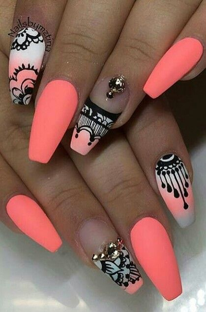 55most Stylish Matte Nail Art Designs Elegant Peach Design Prinsesfo Images