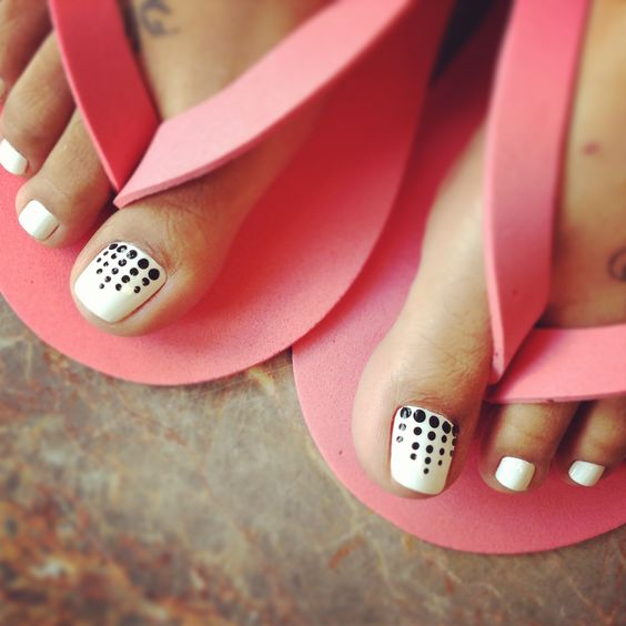 Simple Nail Art Designs Pink And Black