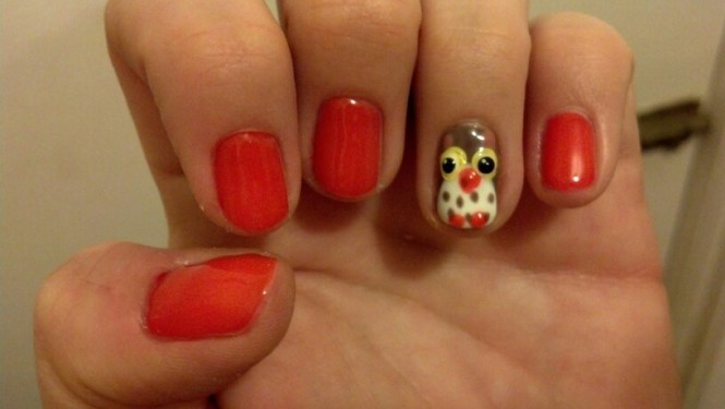 Turkey Day Mani Nail Art