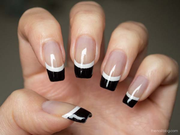 Diy Nail Art Designs White French Tip With Black And I Posted