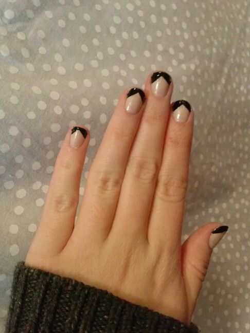 Black French Tip Nail Designs Nails