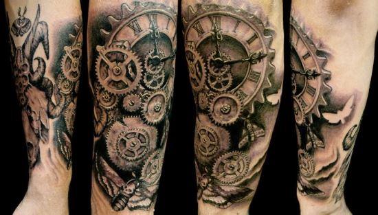 28 Awesome Steampunk Tattoos Ideas