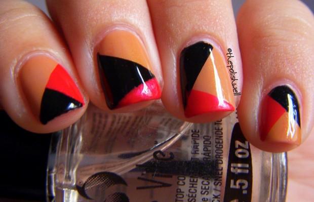 Multicolor Pattern Design Nail Art