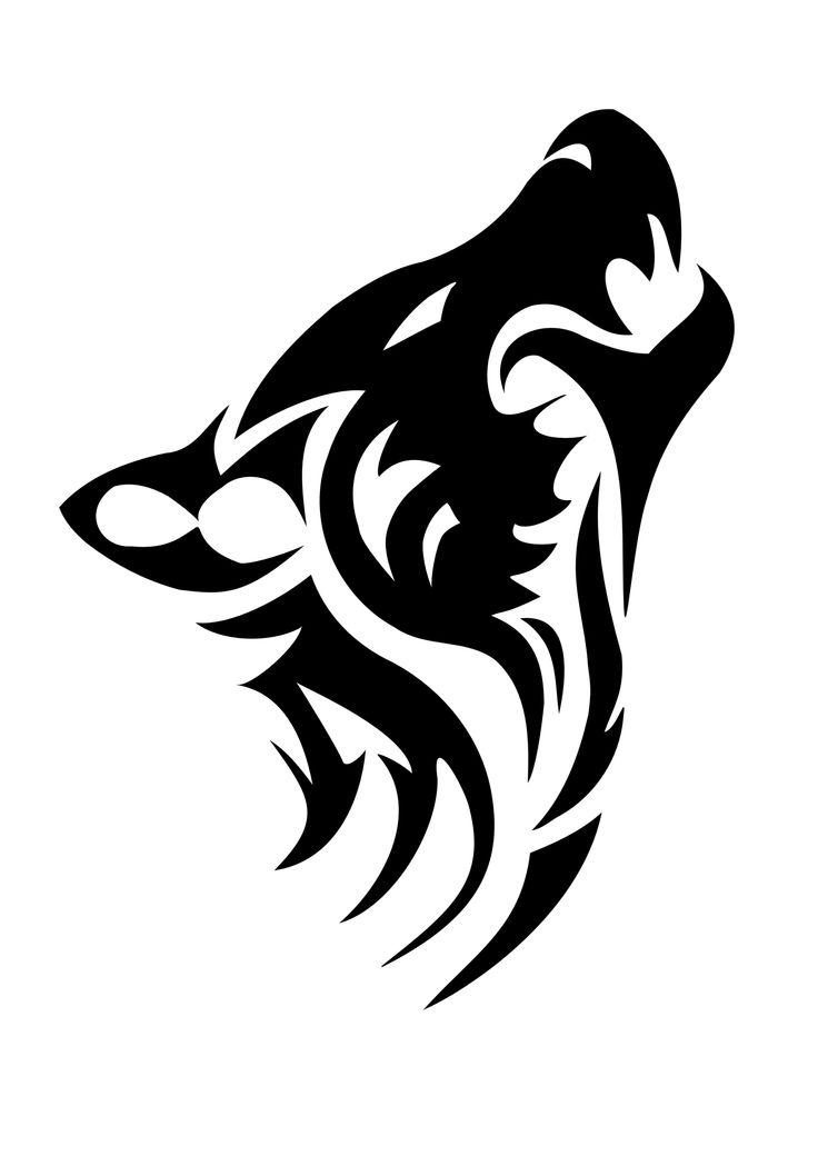 Alpha Wolf Tattoo Stencil
