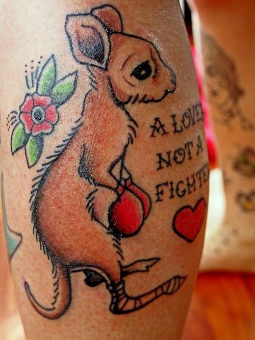 Sleeve Half Boxing Gloves Tattoos