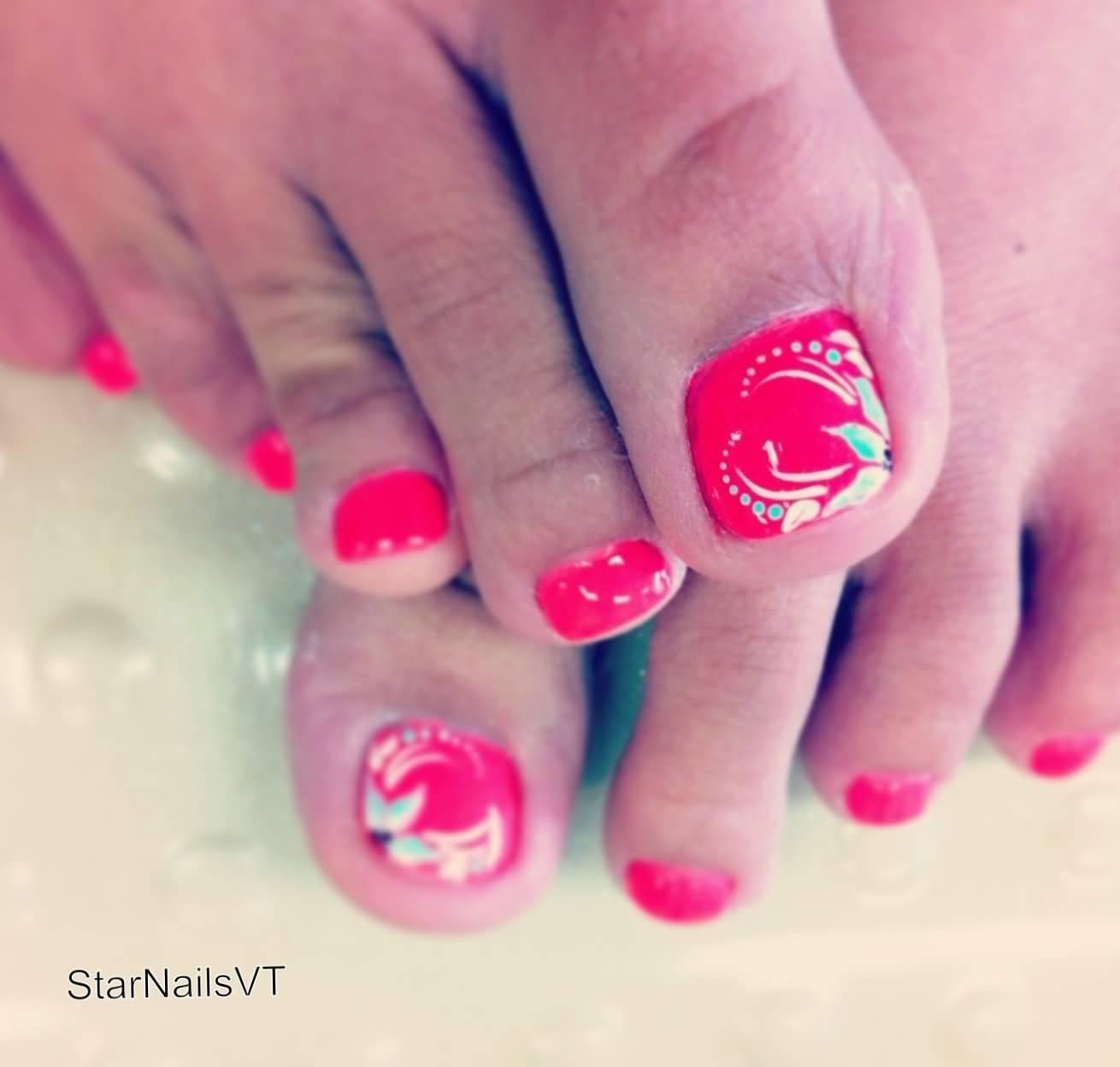 40 Pink Toe Nail Art Design Ideas 21 Wedding