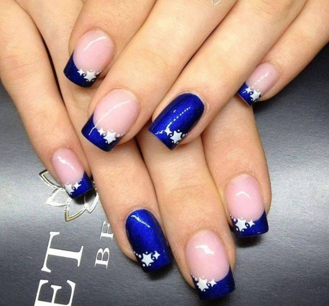 A Clic French Tip With Twist Although The Rest Of Nails Look Like