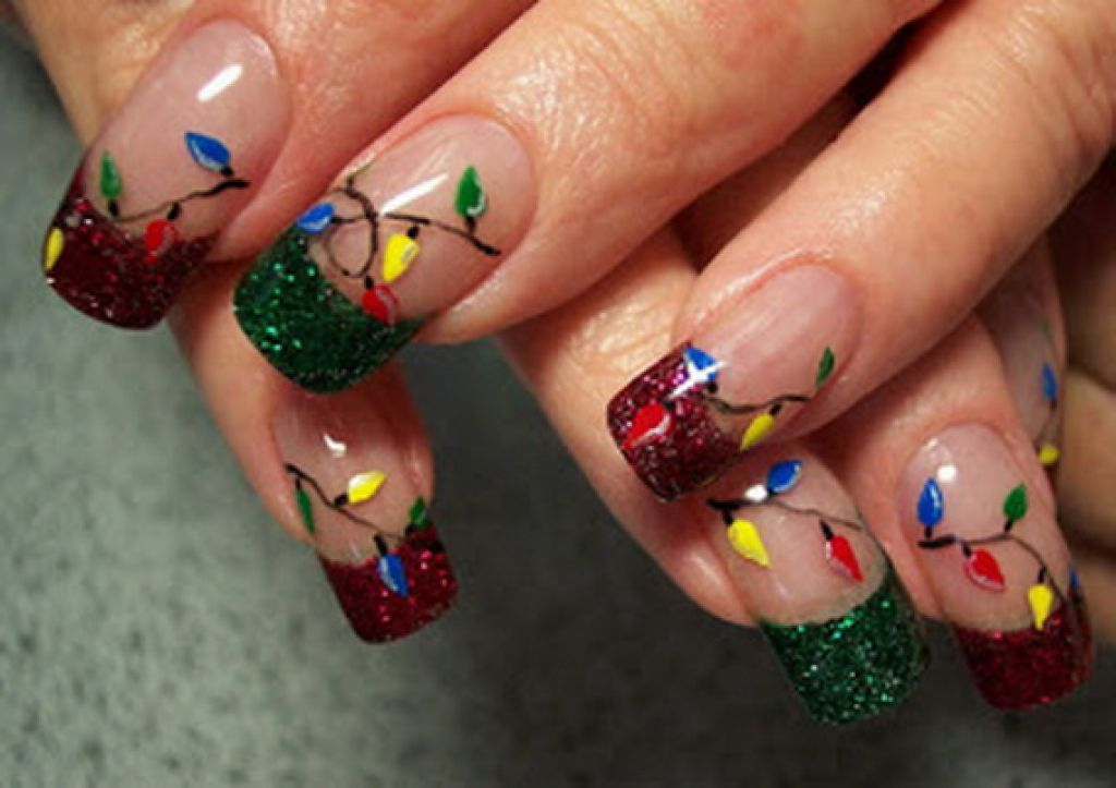 40 Most Beautiful Nail Art Design Ideas For Winter Christmas French Tip
