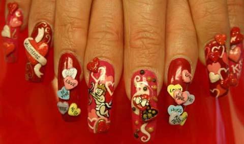 3d Nail Art Design Idea For Valentine S Day
