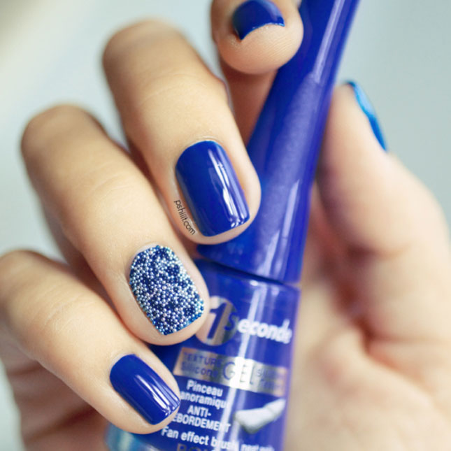 Blue And White Caviar Be Nail Art