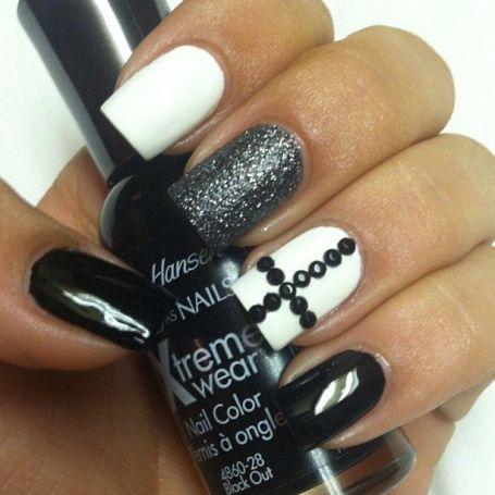 Black White Nail Art Wheel