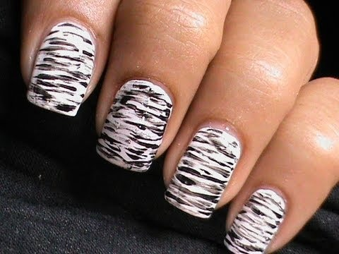 Simple Black And White Nail Art Designs