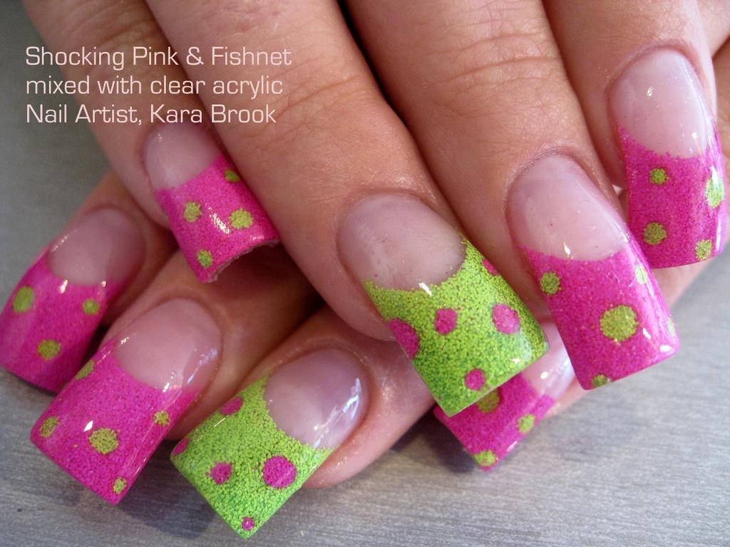Best Green And Pink Nail Art Designs