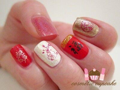 Stylish Chinese Nail Art Design