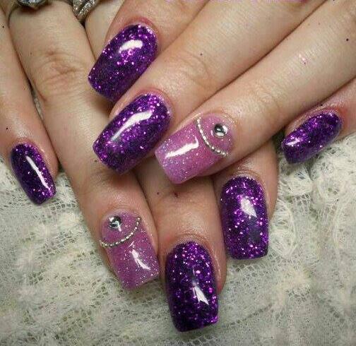 Fl Soft Purple Tips Nail Art