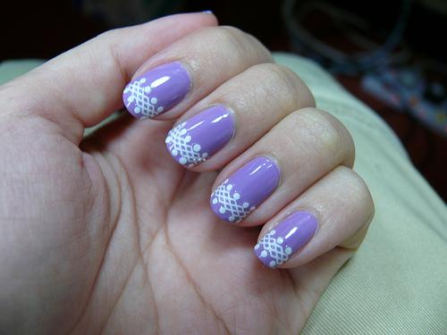 Purple Nail Art Design Idea