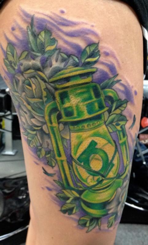 Moth Tattoo Lantern And