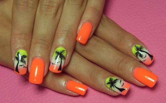 55 Orange Nail Art Ideas For S