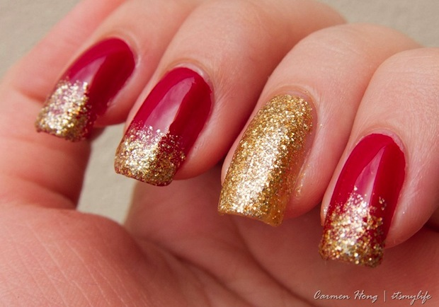 27 Red And Gold Nail Art Designs Ideas Design Trends