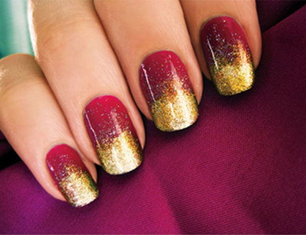 Red And Gold Nail Art 52 Designs For Trendy