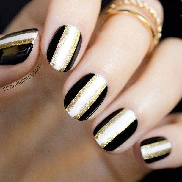 For More Golden Nail Art Ideas Designs You Can Look Into The Following Photo Gallery