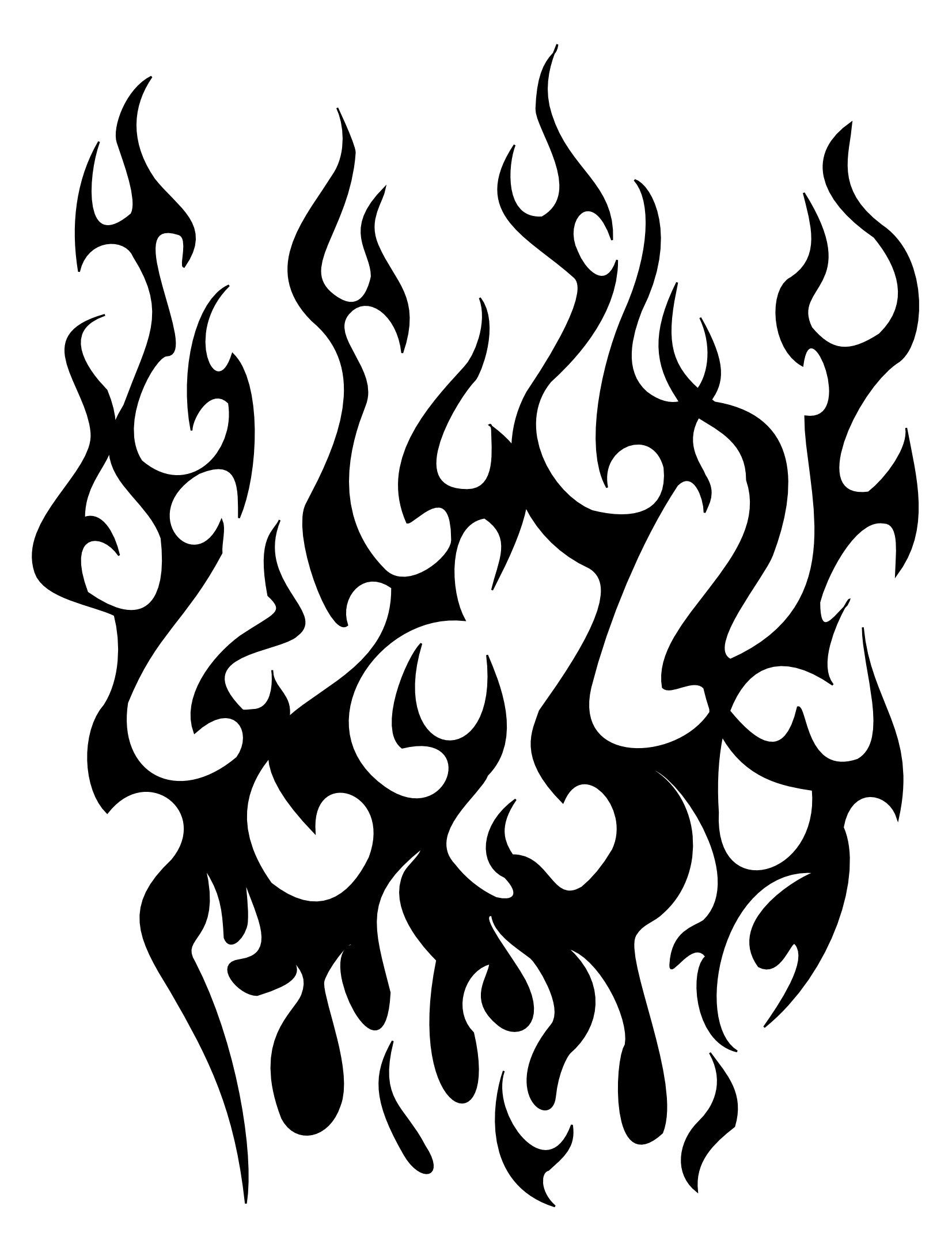 30 Flame Tattoo Design Stencils
