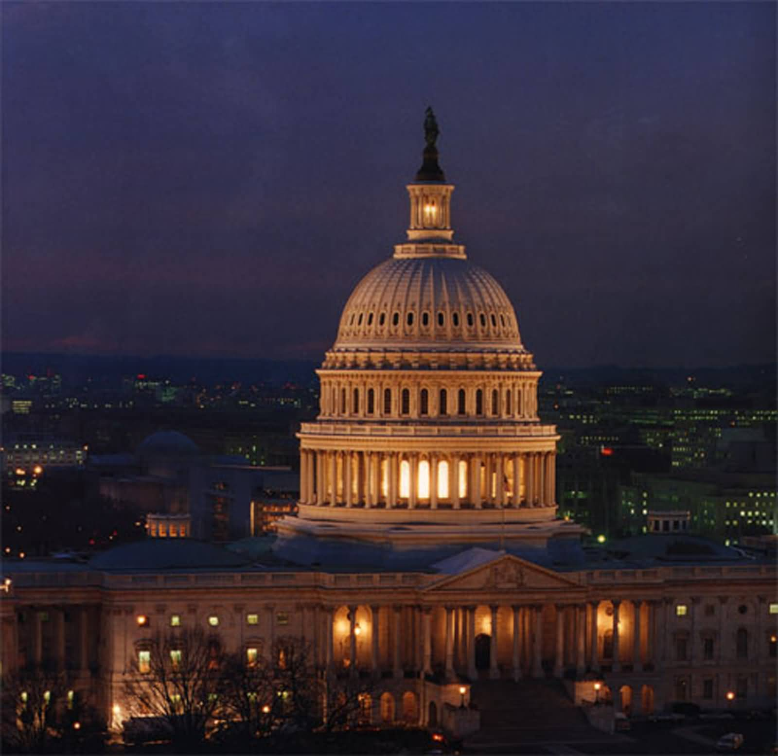 50 Incredible Night View Pictures Of United States Capitol