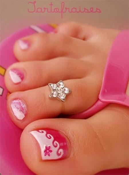 Cool Spring Toe Nail Art