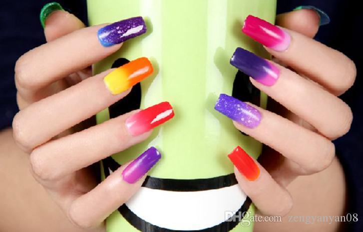 Multicolored Grant Gel Nail Art