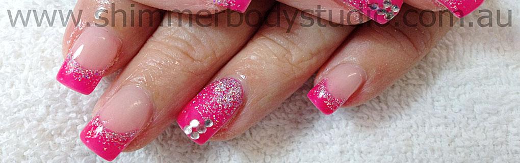 Pink Glitter Gel Nail Art