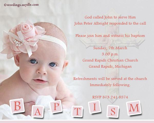 Baptism Invitations Examples
