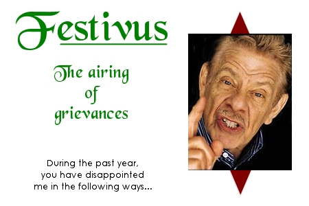 Financial Airing of Grievances
