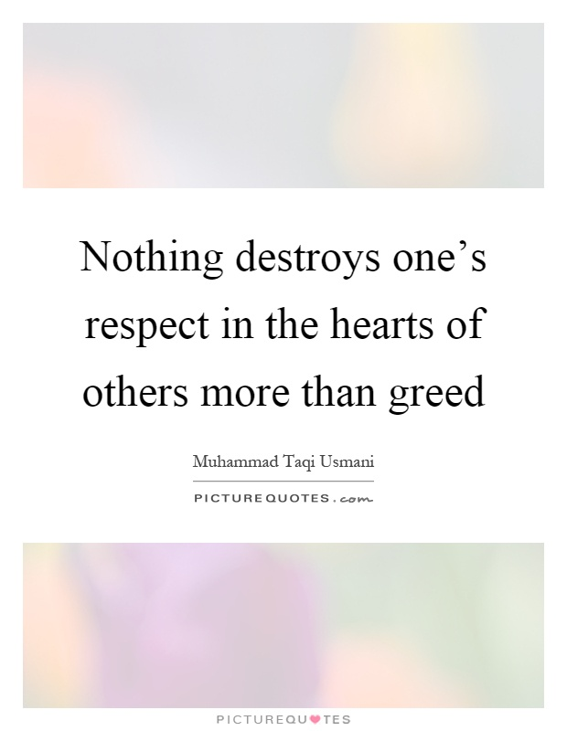 Greedy Quotes Person