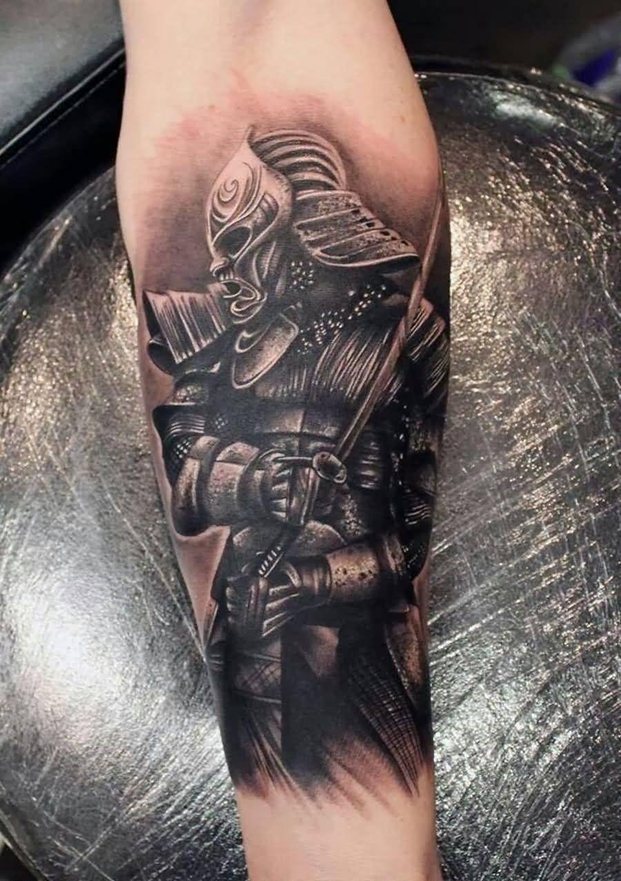 27 Samurai Forearm Tattoos Designs Ideas
