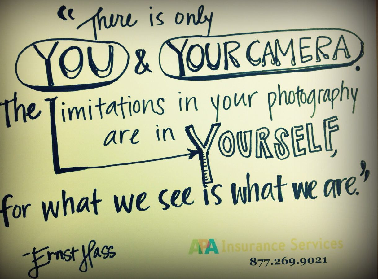 65 All Time Best Photography Quotes And Sayings The limitations in your photography are in yourself