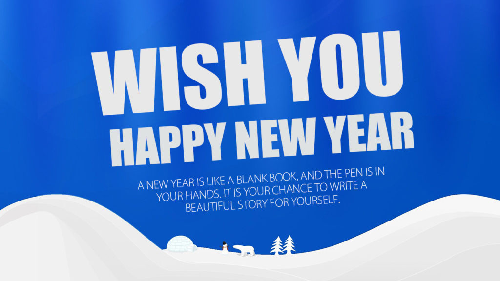 new year wishing poster