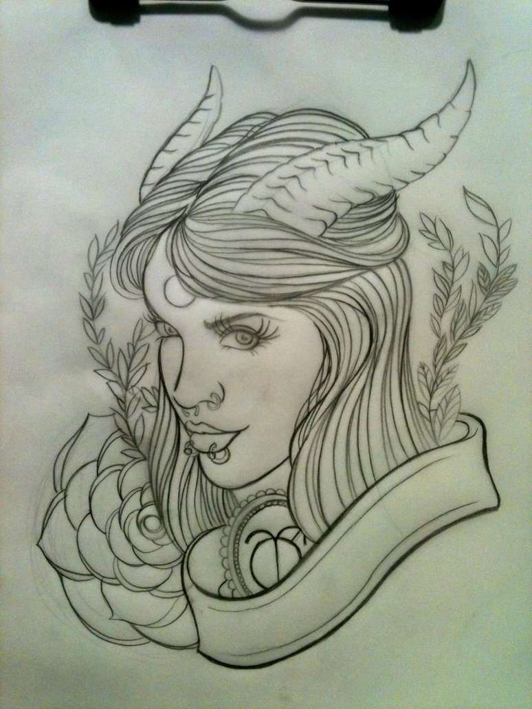Demon Tattoo Drawings And Sketches