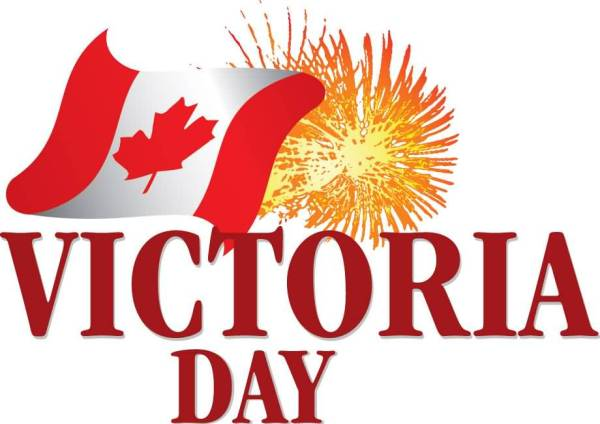 Victoria Day Holiday Weekend Canada Flag Clipart