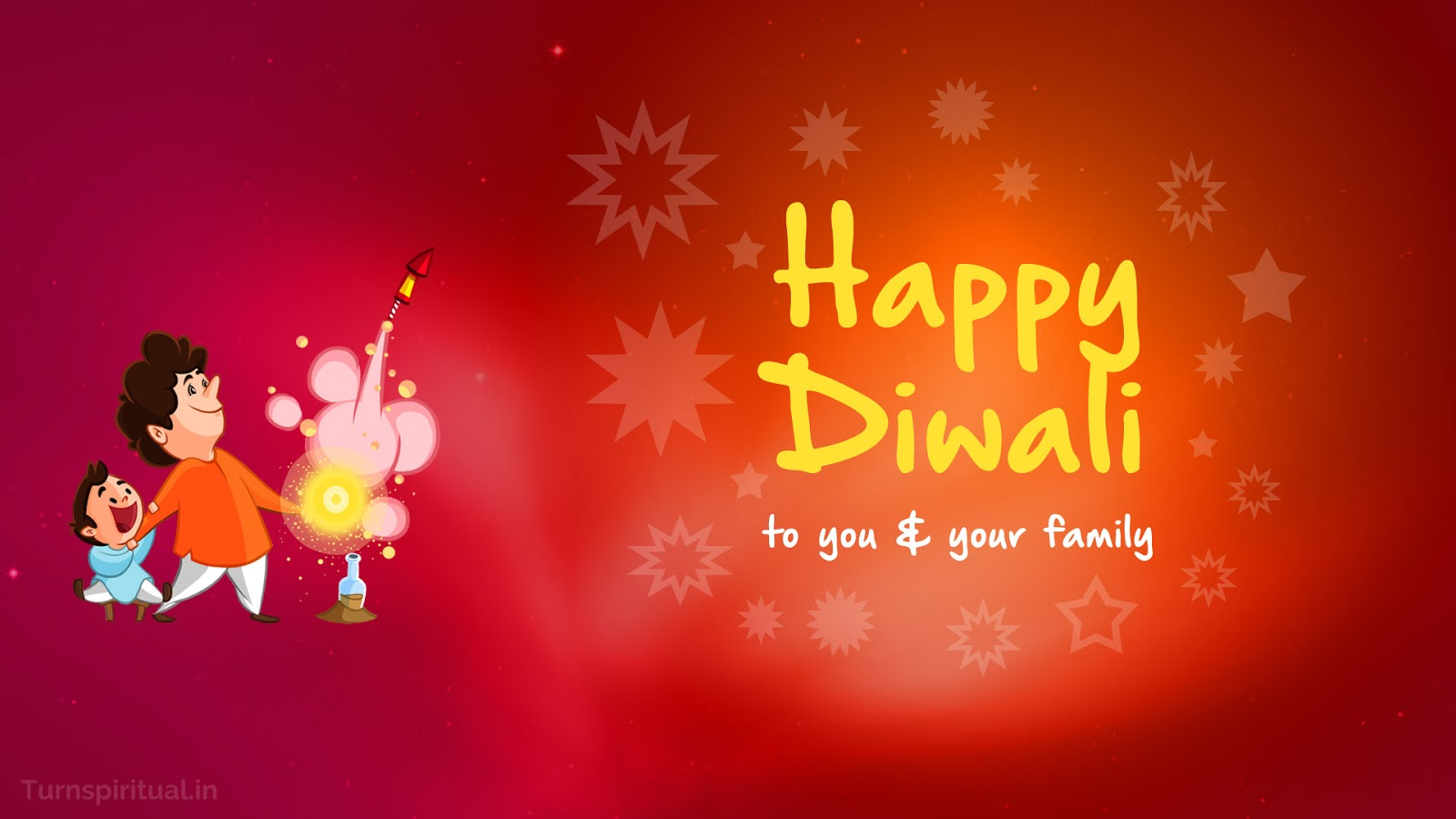 Happy Diwali To You And Your Family Illustration
