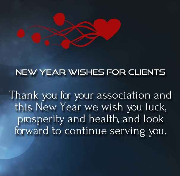 new year messages to clients