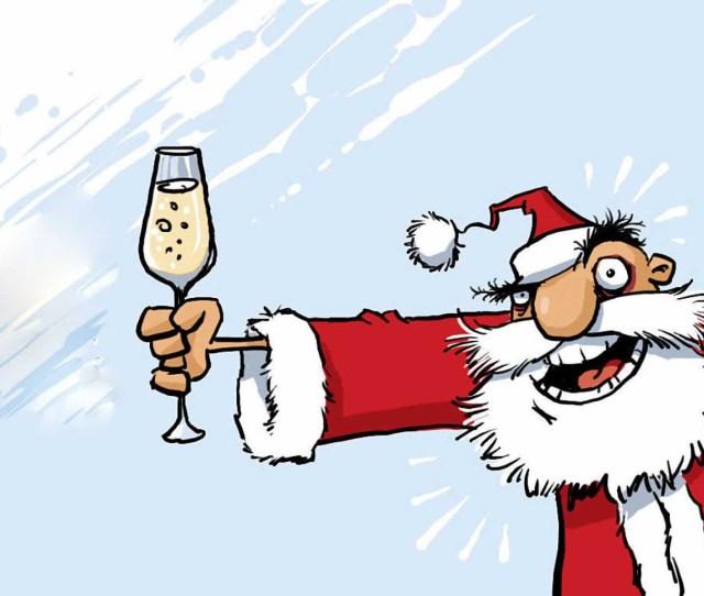 Drunken Christmas Funny Clipart