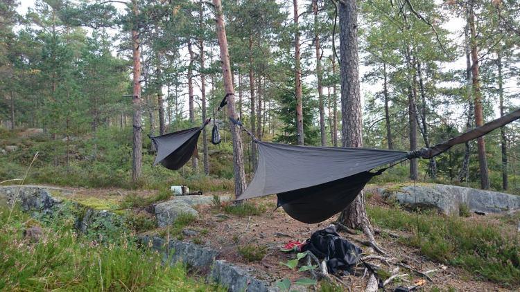 Hengekøyer i Åsemarka