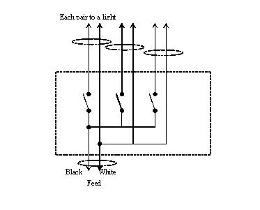 wiring a 3 gang light switch diagram uk wiring diagram one way wiring diagram auto schematic 3 gang switch source
