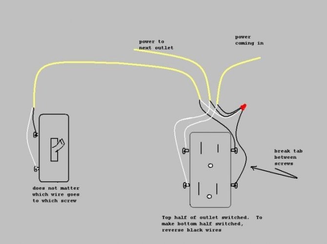 diagram half switched outlet wiring diagram full version hd