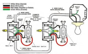 Wiring diagram for 2 switches on 1 light