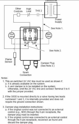 Wiring changes: Johnson Controls G600AX1 With Honeywell S8610U Gas Ignition Control