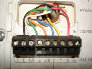 Colors from old thermostat do not match directions on new one