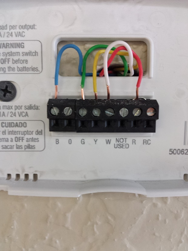 Honeywell Thermostat Th6220d1028 Wiring Diagram : Wiring diagram for honeywell thermostat th u