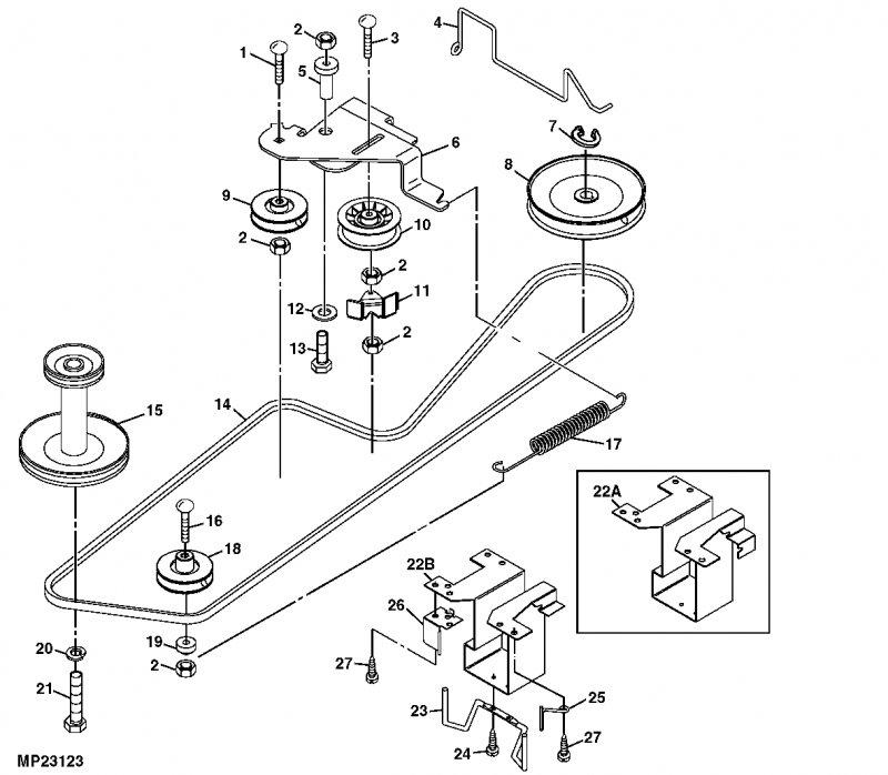 John Deere Lt150 Deck Belt Diagram